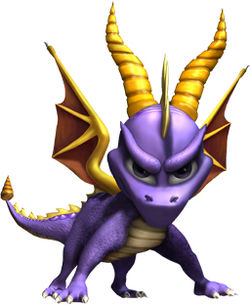 The final design of Spyro took the form of a small dragon stood on all fours
