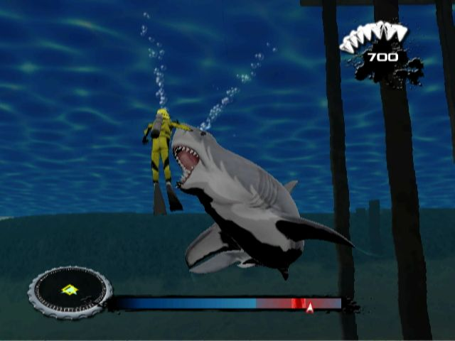 Screenshot of JAWS on Nintendo Wii