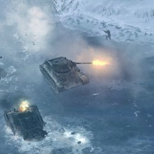 Company of Heroes 2 frozen lake tanks