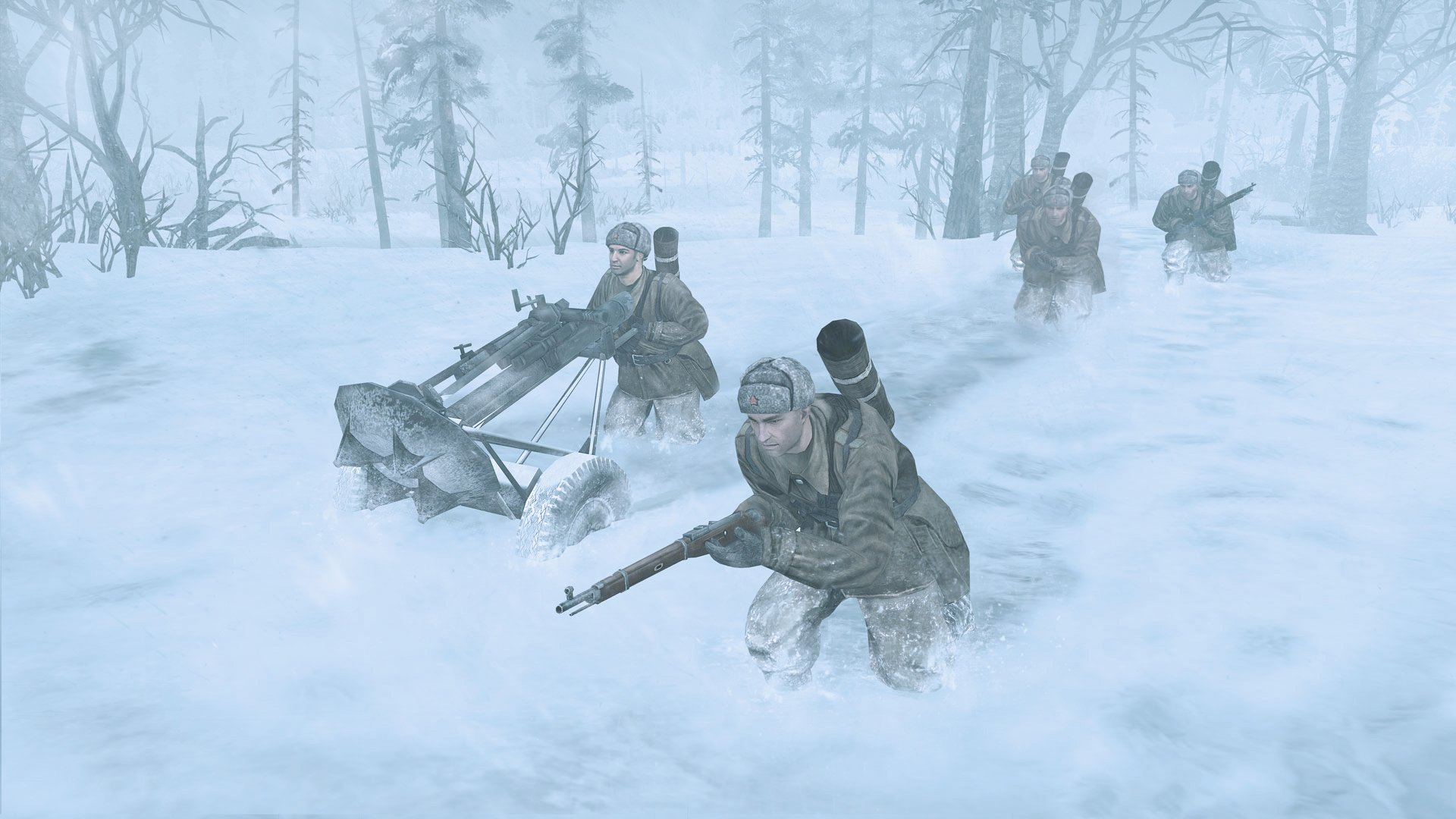 Company of Heroes Soviet snow troops