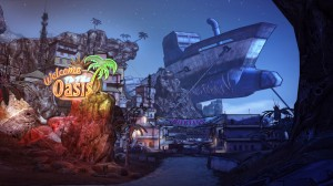 Captain Scarlett's Oasis sign