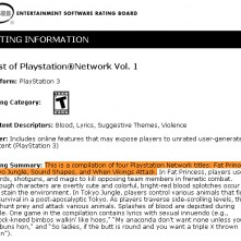 Best Of PSN Vol. 1 ESRB
